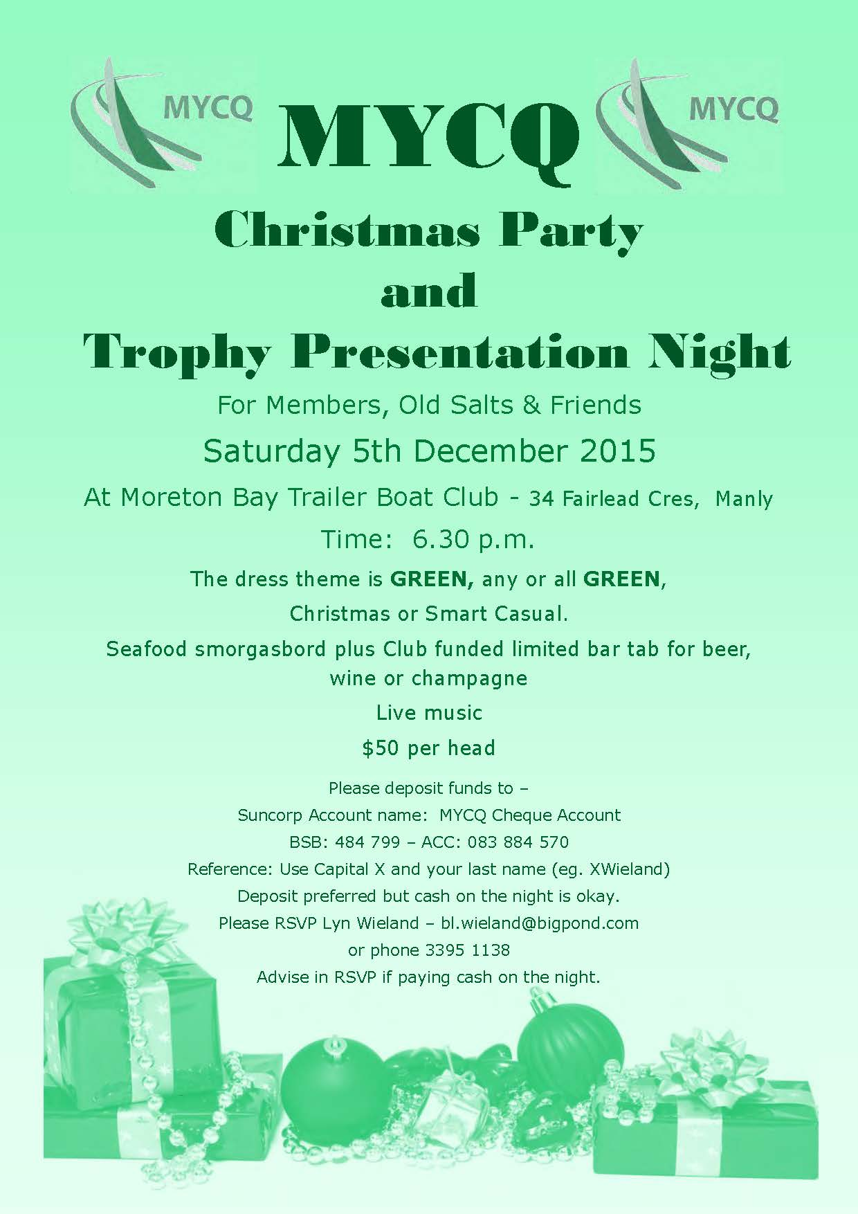 2015 Trophy Presentation and Xmas Party